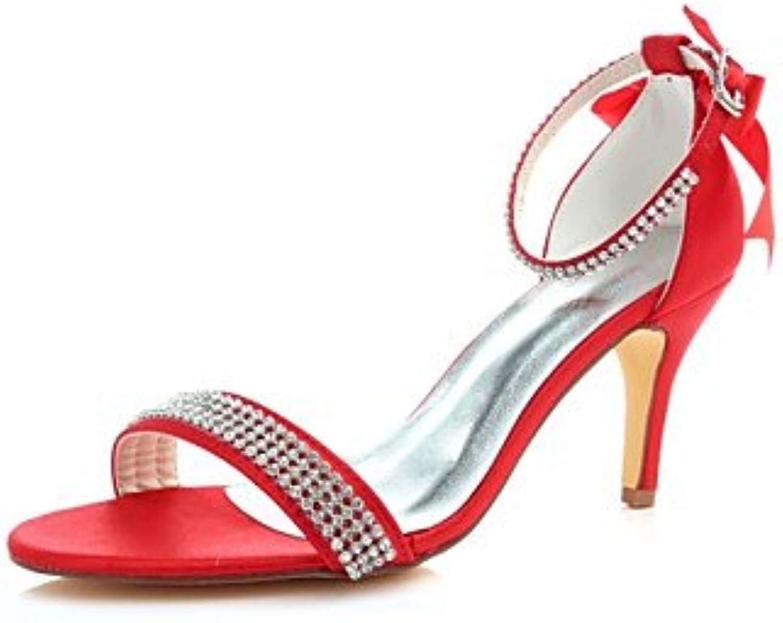 KUKIE Meilleur 4U Chaussures femmes stretch satiné d'été d'été satiné Basic Pompe à chaussures de mariage Stiletto Talon...B07B2HSG2GParent e8aa8c