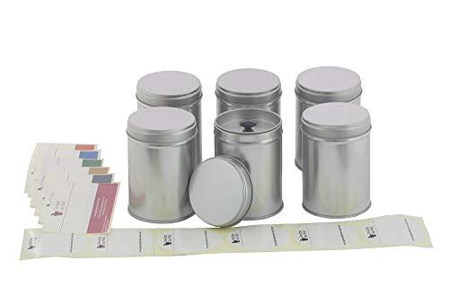 6 Grands Pots à épices avec couvercle aromatique