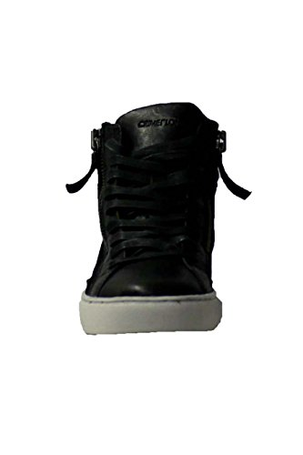 Crime London Stivaletto Donna Sneaker Alta Leather 2 Zip Black_39