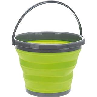 AiO-S - OK Campingeimer 10 L Putzeimer grün Wassereimer rund faltbar Kunststoff ausstülpbar