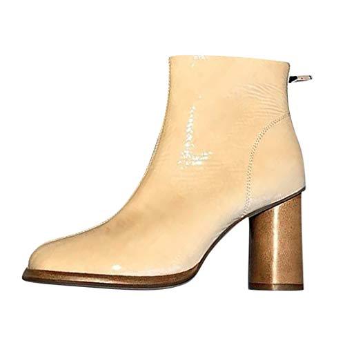 Mädchen Damen Modisch Knie Hoch Schnüren Segeltuch Stiefel Rein Weiß Schwarz Leinenschuhe Reißverschluss Tanzschuhe -