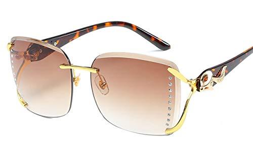 Hemio Unisex Platz Sonnenbrille Moda Randlos Sonnenbrillen Farbfilm Outdoor-Brille Polarisiert Vintage Sonnenbrille Autobrill Neu Retro Cool
