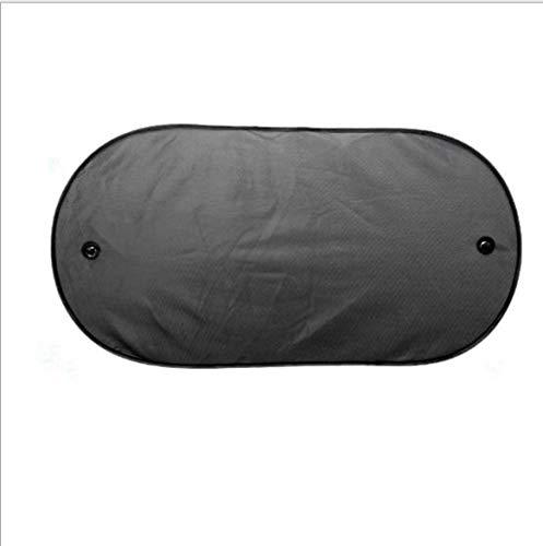 Parasol de voiture universel léger portatif de lunette arrière de voiture ombrage pare-soleil de bloc arrière pare-soleil isolation de fenêtre de voiture - Noir