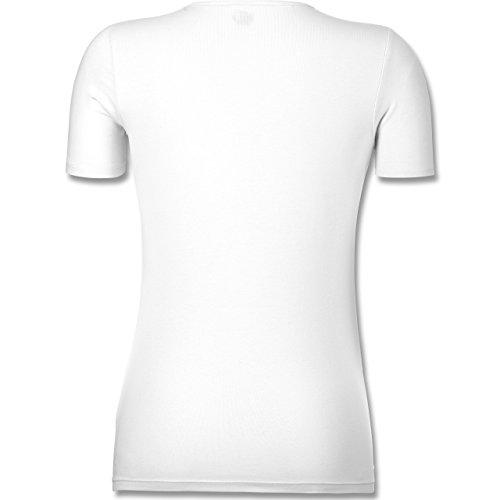 Geburtstag - Einhorn Königinnen Wurden IM Dezember Geboren - Tailliertes T-Shirt mit V-Ausschnitt für Frauen Weiß