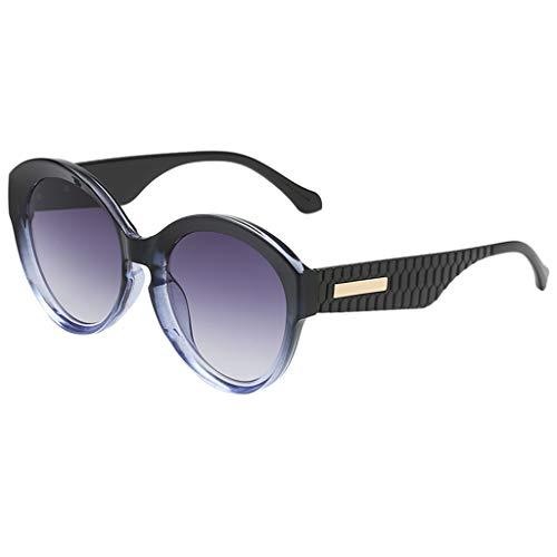 fazry Damen Herren Mode Persönlichkeit Unregelmäßige Form Sonnenbrille Vintage Punk Style Brille(H)