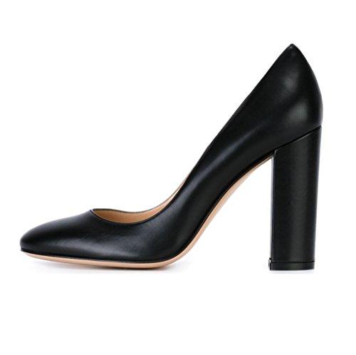 Onlymaker Damen Stiefel Pumps Boots Kurzschaft Stiefeletten Zehenkappe High Heels  35 EUBeige