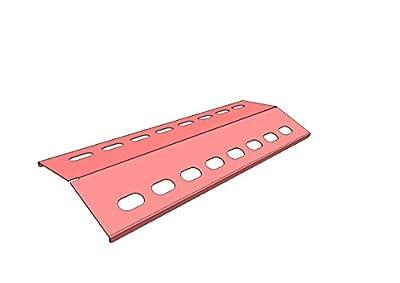 V2A 505mm x 155mm Flammenverteiler Edelstahl-Manufaktur Gasgrill Ersatz-Set/Flammenblech/Grillblech/Brennerabdeckung/Flammenabdeckung/Gasgrill