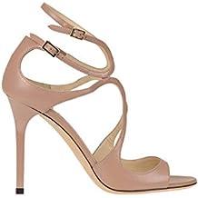 9870cd1b3f1 Jimmy Choo  Lang  Leather Sandals Woman