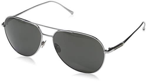 Montblanc Unisex-Erwachsene Mont Blanc Sonnenbrille, Silver, 61