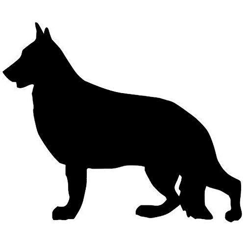 haotong11 9,5 * 11,4 cm Deutscher Schäferhund Tier Auto Aufkleber Auto Körper Abdeckung Kratzer C6-0003 Dekorative 5 Stücke
