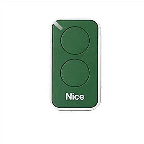 Nice Era-Inti telecomando originale 2 tasti 433,92 Mhz rolling code sostituisce radiocomando Nice Very VR - ONE ON1 ON2 e FLOR FLO2R-S FLO1R-S apricancello (verde)
