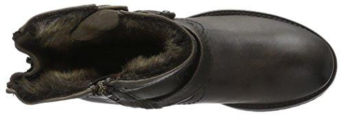 Buffalo London Damen Es 30493 Mexico Suede Biker Boots Grau (Grey 10)