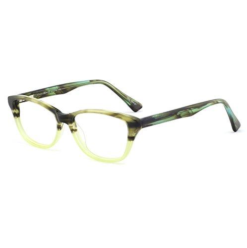 OCCI CHIARI Damen Brille mit Federscharnier aus Metall, flexibel, oval, bunt Gr. 52-16-140, C-green 4