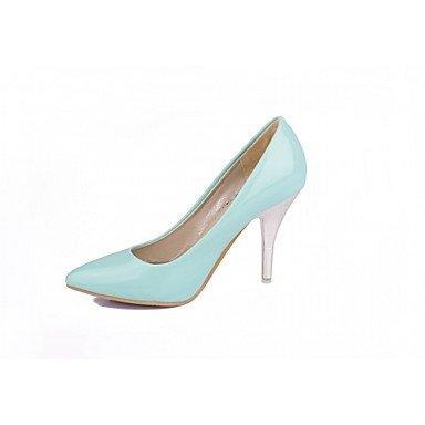 Talloni delle donne Primavera Autunno Dress Comfort in similpelle ufficio & carriera Stiletto Heel Casual Nero Blu Rosso Bianco Almond White
