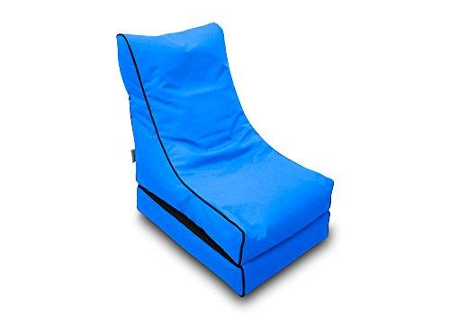 Pufmania Bean Bag Beanbag Lounger Polyester Waterproof 50x 75cm Folded/150x 70cm Deployed (Celeste)