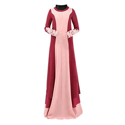 Lazzboy Kleidung Moslemischer Sommer-heißer Rilling, der Art und Weise bördelt, bestickte lose Roben Muslim Summer Bestickte Elegante ()