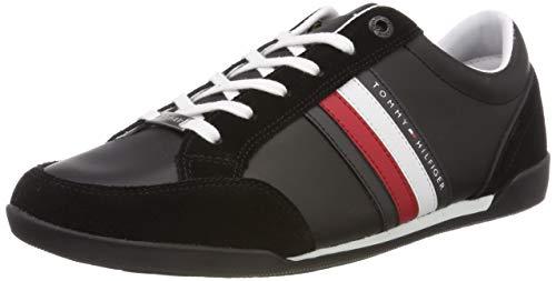 Tommy Hilfiger Herren Corporate Material Mix Cupsole Sneaker, Schwarz (Black 990), 42 EU