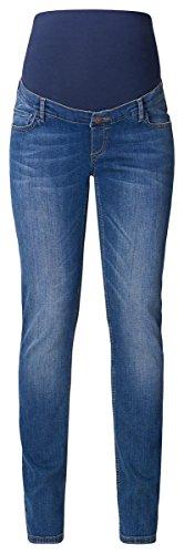 Diese Straight-Umstandsjeans von Esprit Maternity hat gerade Beine und eine dunkle, einfarbige Waschung. Das elastische Bauchband und der verstellbare Taillenbund sorgen dafür, dass die Jeans vom 1. bis zum 9. Monat perfekt sitzt.