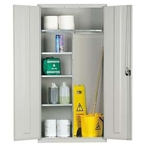 Armoire avec portes Gris conciergerie de stockage sûr et sécurisé pour conciergerie marchandises
