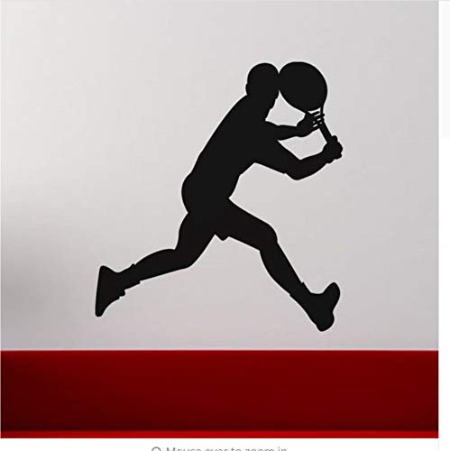 Mrhxly Wandaufkleber Sport Für Turnhalle Die Neuesten Trends Laufen Tennisspieler Wandkunst Aufkleber Für Jungen Zimmer Abnehmbare Mural Tapete 58 * 61 Cm