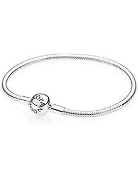 Pandora Damen-Armband mit Kugelverschluss, glatt 925 Silber 590728