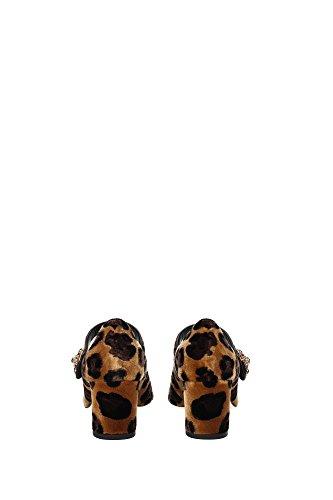 CD0104AL3188L290 Dolce&Gabbana Talon Femme Velours Marron clair Marron Clair