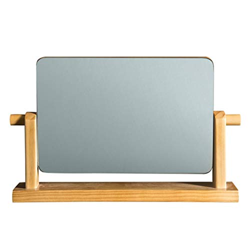 JXQ Miroir De Maquillage De Bureau Européen Miroir Simple Miroir De Coiffure En Bois Massif Portable Miroir De Bureau En Bois Coréen HD Beauté