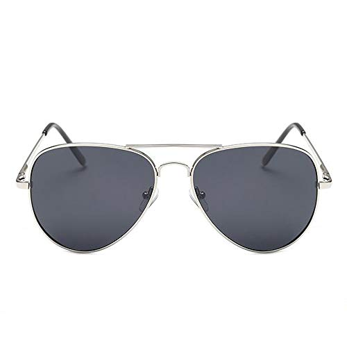 Szblk Polarisierte Sonnenbrille Hochwertige Metall-Sonnenbrille 100% UV-beständige Sonnenbrille Reflektierende Sonnenbrille Mode Retro-Sonnenbrille Oval (Color : Black)