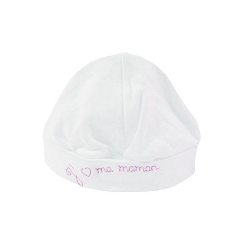 Bonnet Baby 0-6 Month white and pink - I love my mom