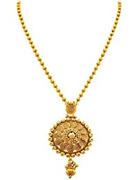BFC- Flower Designer Gold Pendant With 18 Inches Chain For Woman And Girls.
