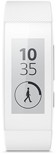 Sony Mobile 1291-6168 SmartBand Talk Fitness and Activity Tracker Wristband Compatible with Android 4.4+ Smartphones - White