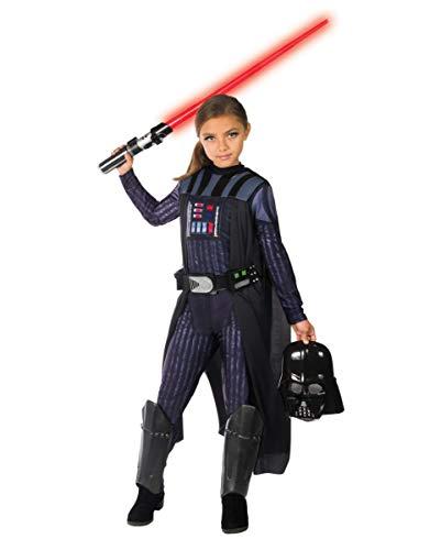 Horror-Shop Original Star Wars Darth Vader Kinderkostüm für Mädchen S