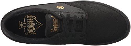 Circa Essential Cuir Chaussure de Basket Black-Gold