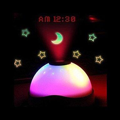 SUNNY KEY-Uhr@Sternenhimmel Digital Magic LED-Projektion Wecker Nacht Licht Farbwechsel Horloge Reloj despertador