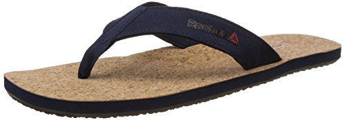 Reebok Men's Eco Flip Cork Dark Blue and Black Flip-Flops and House Slippers – 9 UK 31LyynpWcXL