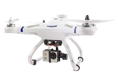 XciteRC 15001600 – Ferngesteuerter Quadrocopter Drohne, Rocket 400 GPS, RTF mit Brushless Gimbal und Full HD-Action Kamera Mode 2