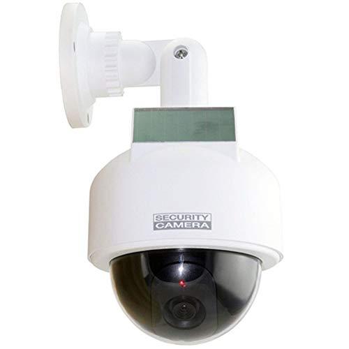 Mele & Co Energía Solar Falsa Cámara Al Aire Libre Impermeable Maniquí Cámara De CCTV con Luz Intermitente CCTV Vigilancia Falsa Cámara De Seguridad,1Pcs