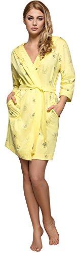 L&L Bata con Capucha Mujer 8102 Limón, L