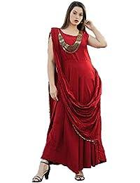 1d82d0e58a2 Lava Creation Women Rayon Designer Gown With Fancy Necklace