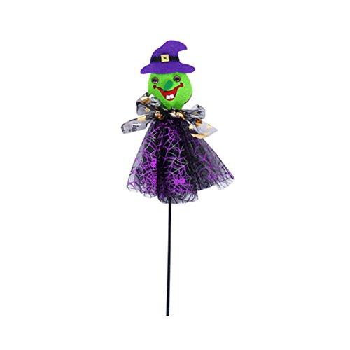 (Amosfun Halloween Cosplay Kostüm Zauberstäbe Requisiten Hexe Stil Stick Stäbe Fee Zauberstäbe für Kinder Party Supplies)