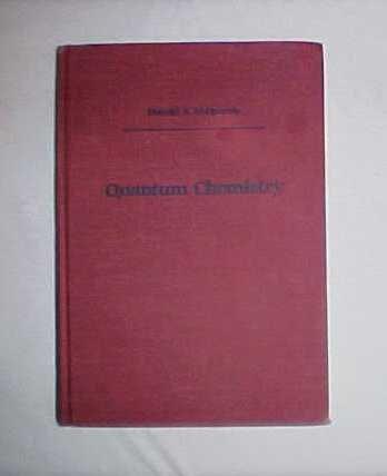 Quantum Chemistry (University Science Books)