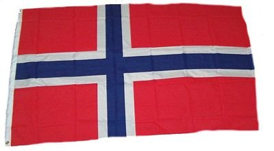 Flaggenking Norwegen Flagge/Fahne, mehrfarbig, 150 x 90 x 1 cm, 17005