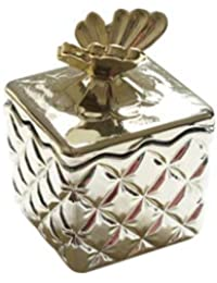 66ff5b007fc3 Simmia Home Joyero de Cristal Dorado con Tapa joyero