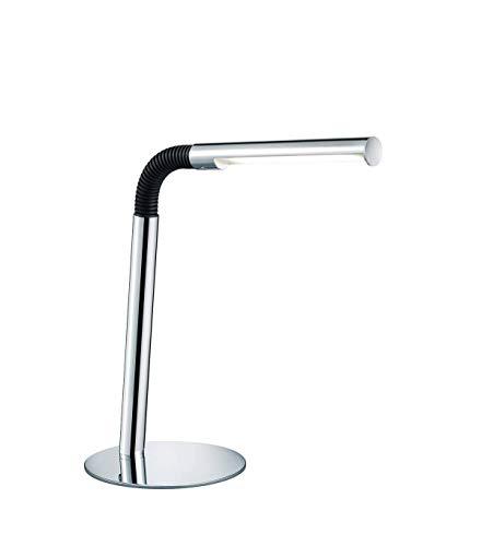 Lampe Led Touch Flexible Base Argentée En Métal