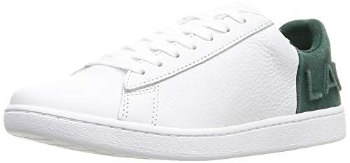 Lacoste Carnaby EVO 419 2 SFA, Zapatillas para Mujer, Blanco Wht/Dk Grn 1r5, 39 EU