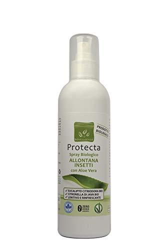PROTECTA Spray biologico Allontana Insetti e Zanzare con Aloe Vera - lenitivo da 250 ml
