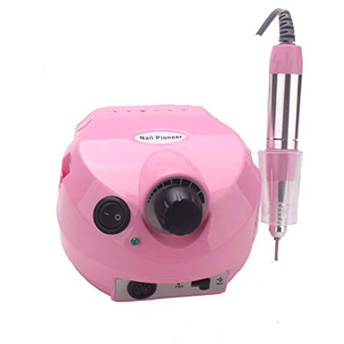 25000 U min Professionel Nagelbohrer Elektro Nagelfeile zum Maniküre Pediküre-Kit Elektrische Datei mit Cutter Nail Drill Art Polierwerkzeug Bit Pink