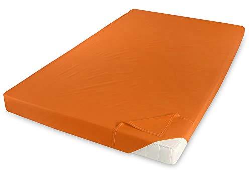 Holiday Renforce Baumwolle Betttuch Haustuch Bettlaken Laken 150x250 cm ohne Gummizug, Farbe:Terra
