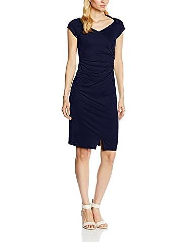 Hot Squash Women's Raglan Sleeve Side Ruched Dress, Blue (Navy), 14