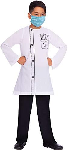 Mädchen Zahnarzt Kostüm - Fancy Me Kostüm für Mädchen und Jungen, Dämonischer Zahnarzt, Beruf, Weltbuch, Tag oder Woche